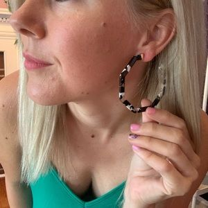 Jewelry - Large Acrylic Octagon Hoops NEW